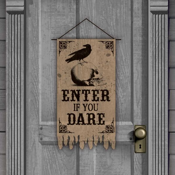 Enter If You Dare Door Banner